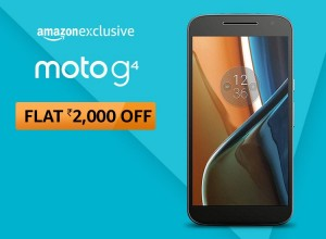 Amazon Exclusive: Get flat discount for moto g4 plus, moto g4, moto g4 Play